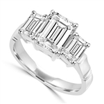 2 ct emerald-cut stone with silver