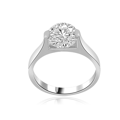 Bit of Heaven-Solitaire ring round cut diamond