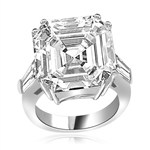 Expensive aristocrat of diamond cuts ring in Sterling silver