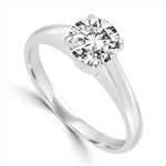 Solitaire Ring in Tiffany Setting - 0.75 Cts. T.W. In Platinum Plated Sterling Silver.