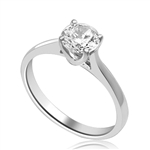 A perfect solitaire to propose! Beautiful Tiffany set 0.75 Ct. Ring. In Platinum Plated Sterling Silver.