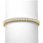 Princess cut diamond in gold vermeil bracelet