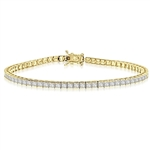 7 Inch Bracelet with princess essence masterpieces crafted in bezel setting set in 14K Gold Vermeil.