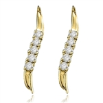 0.5ct Slim & melee earring in 14K Gold Vermeil