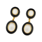 Diamond Essence Mother of Pearl Earring in Vermeil - VEL858MP