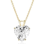 1 ct heart-cut Diamond stone in Gold Vermeil