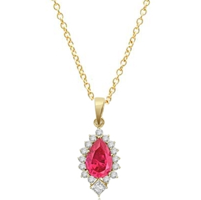 Pear Cut Ruby Essence Pendant