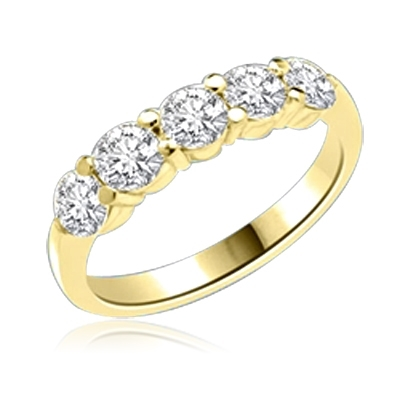 Diamond Essence Band with Round Brilliant Stones, 1.25 cts.t.w. - VRD1147