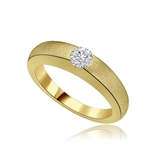 5ct round bazel set solitaire gold vermeil ring