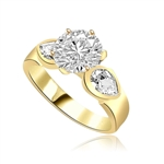 2 cts Blithe and bright ring in Gold Vermeil