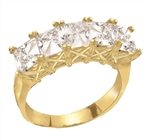 Sweet Love-Cool princess band in Gold Vermeil