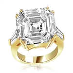 Expensive aristocrat of diamond cuts ring in Gold Vermeil