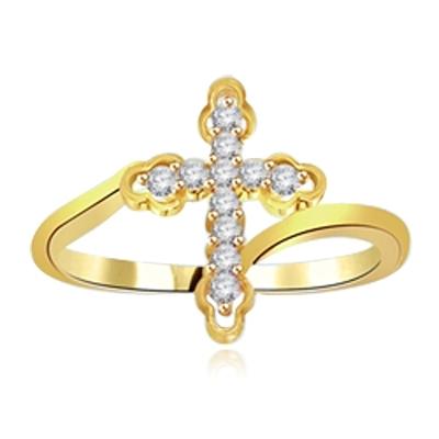 Gloria-Sublime ring with pure white Round cut Diamond