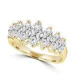 marquise cut graduated diamonds in gold vermeil
