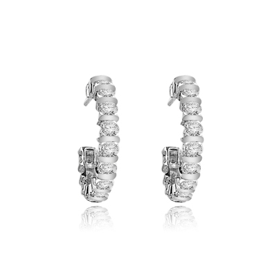 Bright earrings in Platinum Plated Sterling Silver