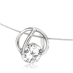 14K Solid White Gold Slide Pendant with classic Round Brilliant Diamond Essence. 1.25 Cts.T.W. (Also available in 14K Solid Gold, Item# GPD1712).