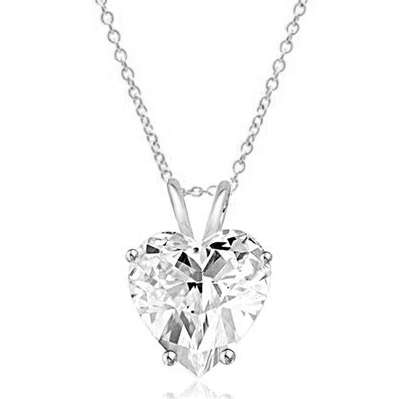Heart-cut Diamond pendant White Gold