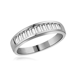 ring - white gold baguette band