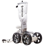 22lb white pressure-side in-ground pool cleaner with four wheels