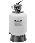 25lb white corrosion-proof Hayward top-mount sand filter with under-drain system