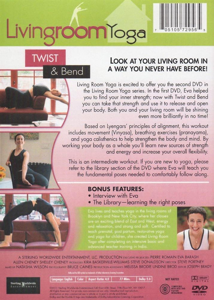 Livingroom Yoga Twist And Bend DVD With Eva Barash