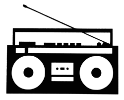 Laptop Decals-Music-Boombox