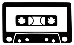 Laptop Decals-Music-Cassette Tape