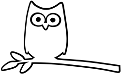 Laptop Decals-Pets/Animals-Owl