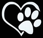 Laptop Decals-Pets/Animals-Paw Heart