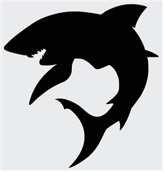 Laptop Decals-Pets/Animals-Shark