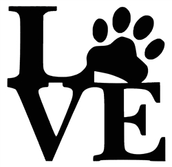 Laptop Decals-Pets/Animals-Paw Love