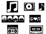 Laptop Decals-Music