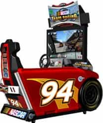 "Nascar Team Racing Sit Down Driving Arcade, Global VR Nascar Team Racing 42"" Sit Down Driver"