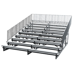 Bleacher 10 Row with Aluminum Seats