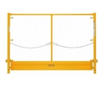 7' EZ Scaffold Guard Rail End Panel with Toe Board
