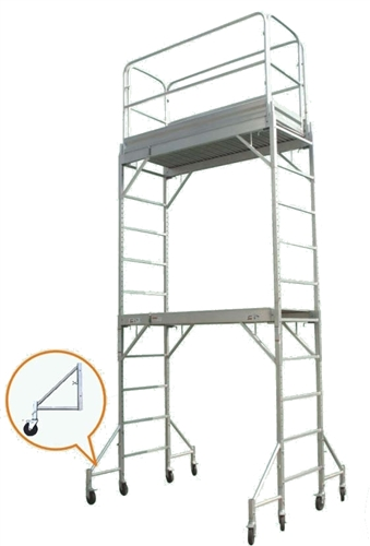 Aluminum Rolling Scaffold : Aluminum scaffolding tower adjustable  stacked