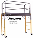 6' Snappy Scaffolding Unit 10' Long with Guardrail