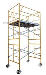 12 foot Rolling Scaffold Drywall Tower
