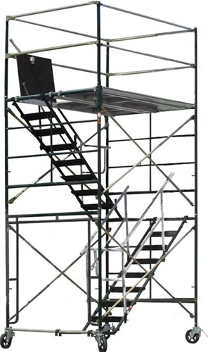 Scaffolding Stair Tower 12 Rolling Scaffold