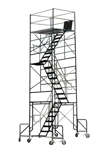 Scaffold Stair Tower : Scaffolding stair tower rolling scaffold outriggers