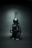 "2014 Astrolapin 16"" Monotone Edition Grey Designer Vinyl Toy Figure Mr Clement"