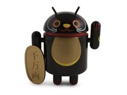 Black Business Protection Android Lucky Cat Series Vinyl Mini Figure Andrew Bell