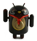 Black Safety / Protection From Evil Android Lucky Cat Series Vinyl Mini Figure Andrew Bell