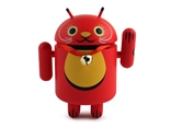 Red Protection From Illness Android Lucky Cat Series Vinyl Mini Figure Andrew Bell
