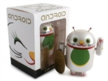 White Good Luck in Business Android Lucky Cat Series Vinyl Figure Andrew Bell