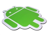 Android Green on Black Plastic Surface Mouse Pad by Android Foundry