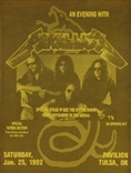 An Evening With Metallica Rock Concert Poster Tulsa