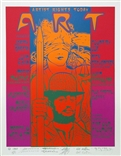 Art Benefit 3 Original Signed Silkscreen - Rick Griffin, Stanley Mouse, Victor Moscoso, Alton Kelley, and Wes Wilson