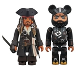 Jack Sparrow and Blackbeard Pirates of the Caribbean Set of Bearbrick Figures
