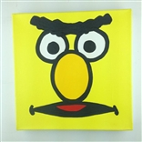 Bert Sesame Street Original Painting On Canvas Artist Todd Goldman
